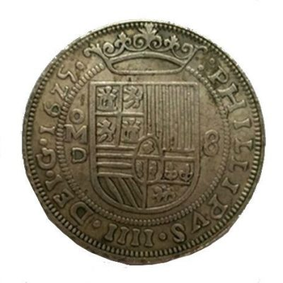 Moneda 8 Reales de plata 1625 (ceca de México)