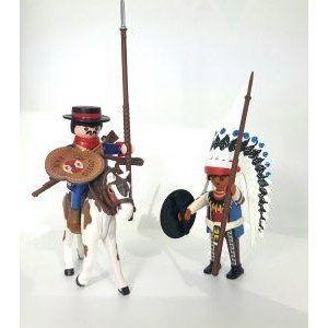 Dragón de Cuera y Jefe Indio