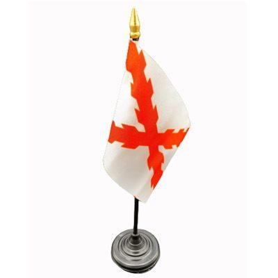 Bandera de mesa Cruz Borgoña
